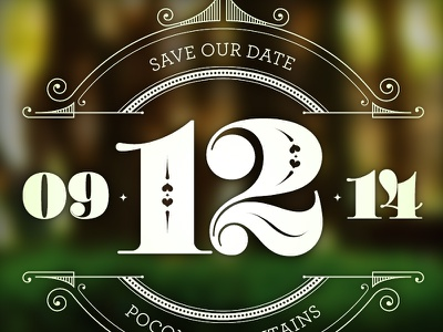 09.12.14 circle save the date type typography vintage vintage typography numbers ornaments seal