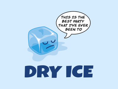 Dry Ice cartoon best party dry humour dry wit sarcasm ice cube dry ice vector illustration vector art illustration adobe illustrator