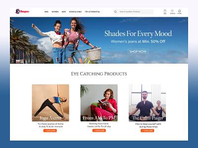 Fashion E-Commmerce Design e-commerce shop web app website ux minimal ui branding illustration design