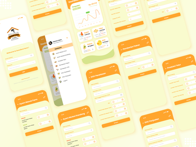 Sonofera Farm - Dashboard Mobile UI farm app dashboard mobile dashboard ui mobile app design app ux ui flat design