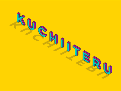 Isometric Art - Kuchiiteru isometric art isometric vector minimal illustrator illustration graphic design flat design art
