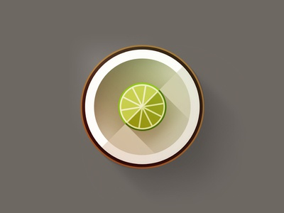 The lime in the coconut brown green white coconut lime