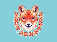 Grained fox