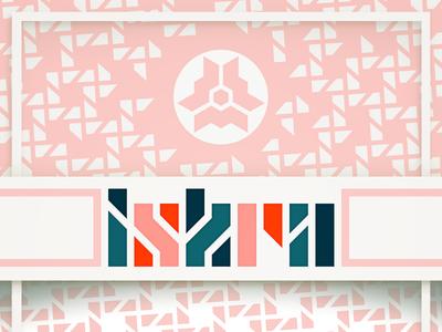 Iskra typography logo complementary iskra aesthetics pink