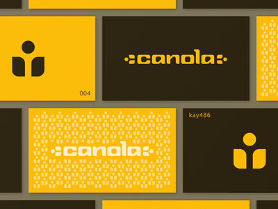 004 canola logo agriculture industrial flower yellow branding logo logotype font letter lettering wordmark icon simple clean text