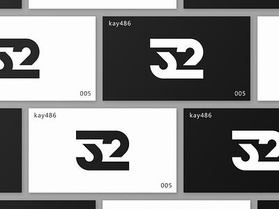 005 32 mark text lettering number design clean simple black  white white black icon mark symbol logo
