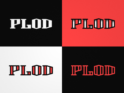 PLOD lettering typography red text clean simple icon wordmark lettering letter font logotype logo branding