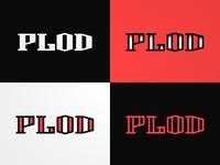 PLOD lettering