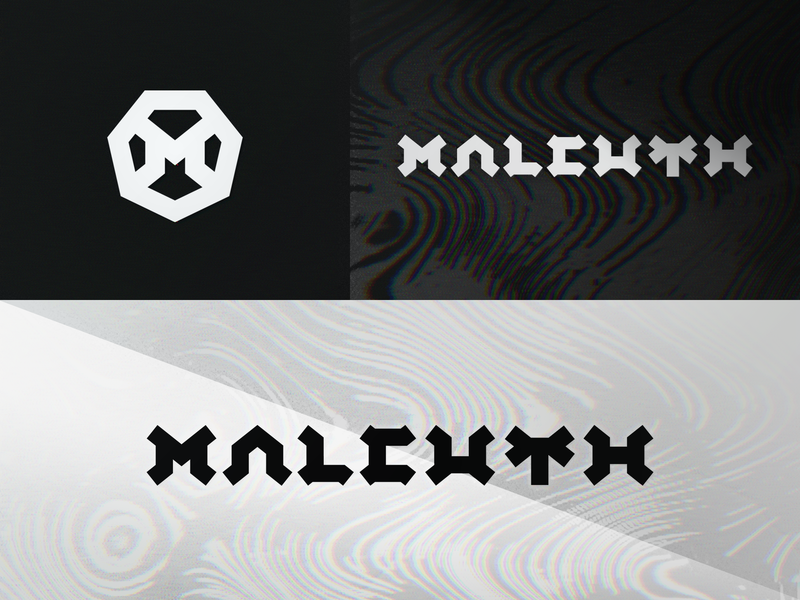 Malcuth branding letter identity branding wordmark lettering logo typography dj neurofunk wave electronic neuro edm music drum and bass dnb rainbow chromatic