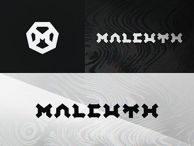 Malcuth branding letter identity branding wordmark lettering logo typography dj neurofunk wave electronic neuro edm music drum and bass dnb rainbow chromatic