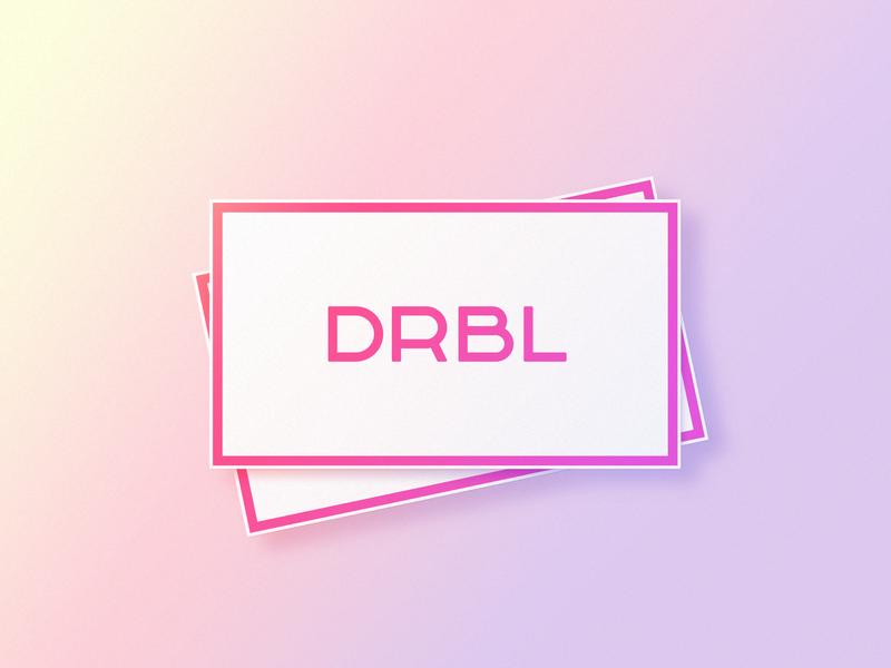 DRBL lettering bubble gum pastel color pastel pink dribbble branding logo logotype font letter lettering wordmark icon simple clean text typography