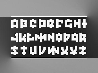 Tremor font basic blocky letter lettering grayscale black white black  white black and white typography font