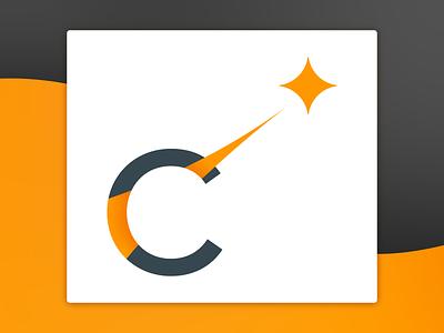 Skyrocket Logo flat vector logo design