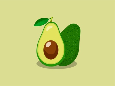 Avocado minimal vector logo graphic design art illustrator illustration design branding animation