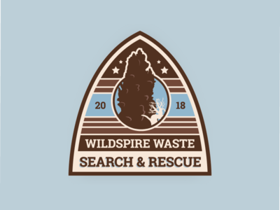 Wildspire Waste SAR Badge monster hunter world video game desert illustration retro badge mhw