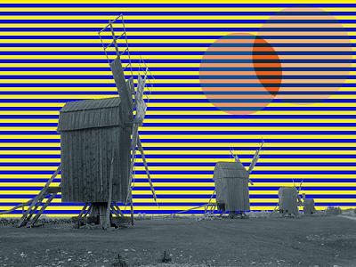 Windmill Wizardry pattern optical illusion photo illustration