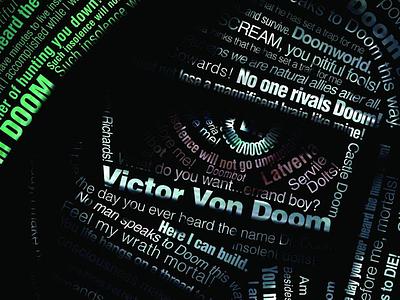 Dr. Doom Typography Poster comics dr doom type poster typography