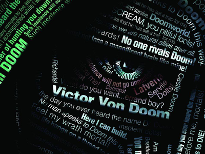Dr. Doom Typography Poster comics dr doom type poster typography