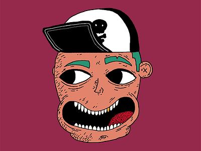 Sk8r Dood character design punk skateboard artwork vector drawing illustration