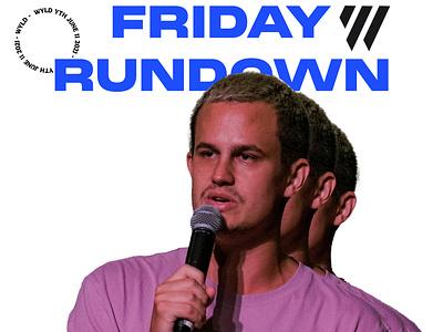 Friday Rundown youth ministry church graphic design logo branding raster vector illustrator typography illustration design