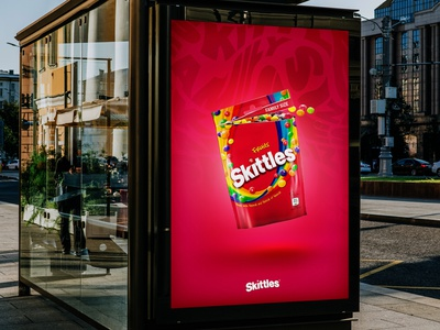 Skittles Ad graphic design poster design poster ad design colorful brand identity logo icon branding typography vector illustrator illustration design
