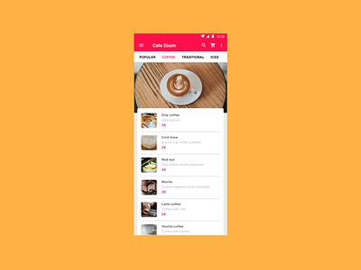 Coffee app web branding app ux ui design