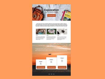 Exploration landing page graphic design minimal flat website design ux web ui app