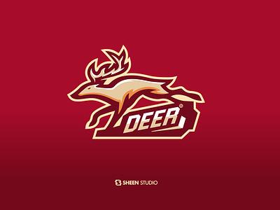 deer esport concept comunitas vector logo design mascotlogo icon mascot character logosport logo logodesign esport