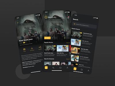 Movie Online App ux ui mobile app mobile app design movies movie app