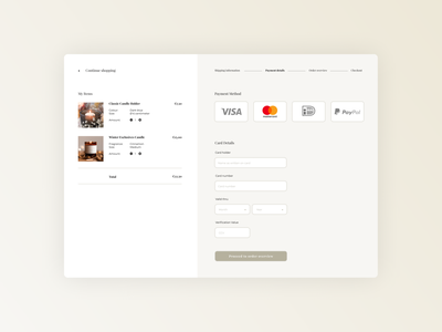 Credit Card Checkout | Daily UI 002. checkout page checkout design user interface ui desktop daily ui 002 daily ui dailyui