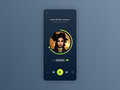 Music Player   Daily UI 009. ui design ui user interface app design mobile app app ui mobile ui music app music player daily ui 009 daily ui challenge daily ui