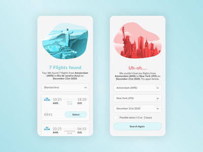 Success / Error   Daily UI 011. daily ui challenge airline airport app interface app user interface ui mobile ui daily ui daily ui 11
