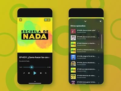 Player podcast music player mobile ui design dailyui app