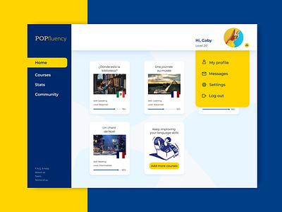 POPfluency learning languages webdesign website dailyui ui design