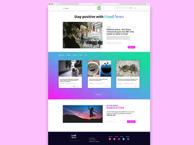 Goodnews dailyui news website ui design