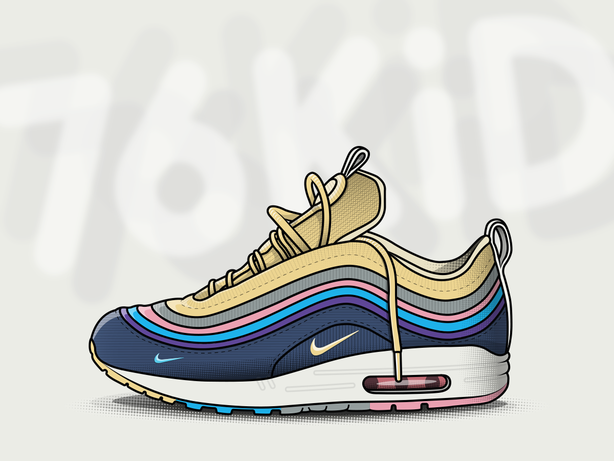 6bca1f0a61 Nike Air Max 97/1 Sean Wotherspoon - Sneaker vector illustration trainer  nike sneaker illustrator
