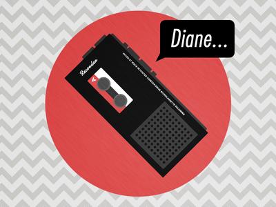 """""""Diane..."""" - Agent Cooper's Recorder"""