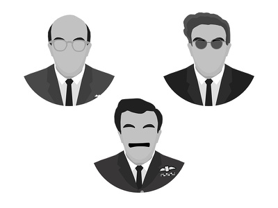 Dr. Strangelove - The Faces of Peter Sellers movie character characters faces illustration film stanley kubrick kubrick strangelove dr. strangelove