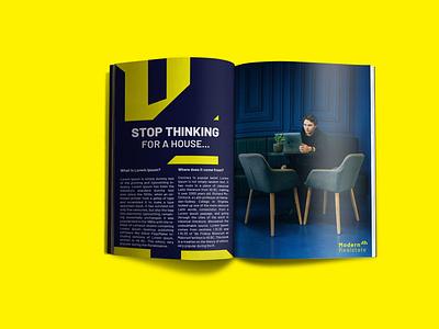 Modern Realstate Magazine Design magazine design brand identity design branding modern real estate