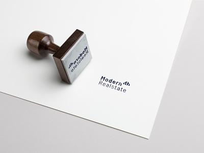 Modern Realstate stamp design brandidentity branding stamp design modern real estate