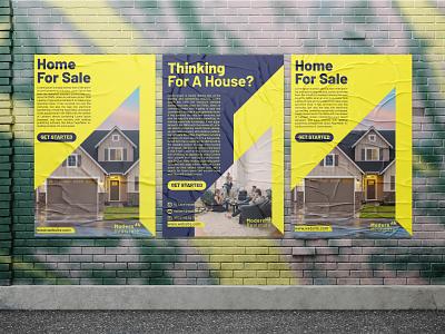 Modern Realstate Poster design poster design brand identity branding modern real estate
