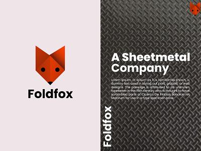 Foldfox fox creative unique logo design logo maker modern logo design folded fox fold minimalist logodesign