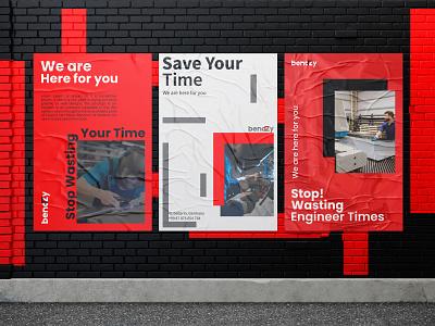 Bendzy Poster unique creative banner poster bendzy sheetmetal