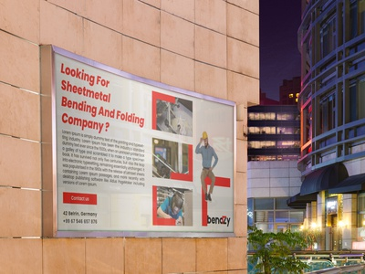 Bannner design fo BendZy folding bending sheet metal banner