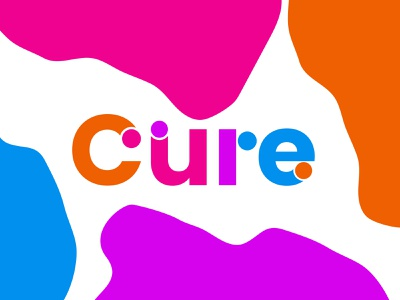 Cure logodesign tyography cure