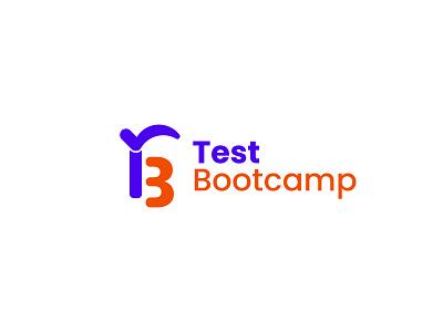 test bootcamp logo brand identity branding minimalist logo logo maker collage school logodesign