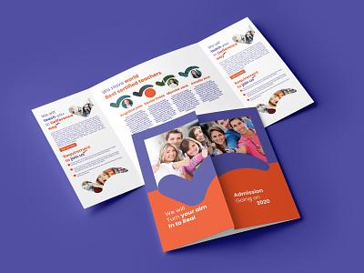 Test bootcamp brochure design brand identity branding collage shool test bootcamp brochure design