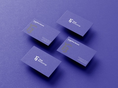 Test Bootcamp Business card Design branding brand identity logo maker business card