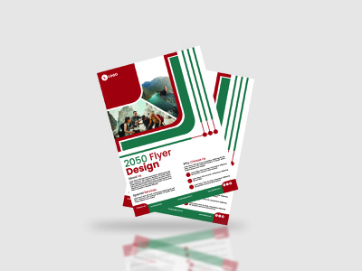 A4 Flyer Design company agency clean modern new free simple graphic design creative brochure business corporate a4 design flyer