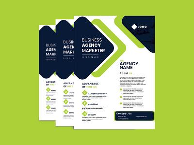 Corporate A4 Flyer Design clean simple print brochure free creative new design flyer a4 corporate